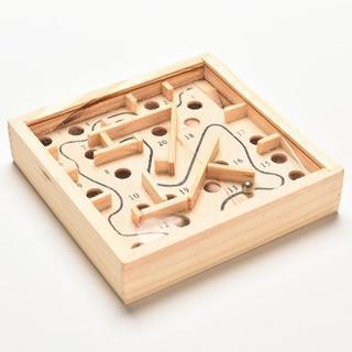 [GIN FOR FREE SHIPPING] Mini Wooden Labyrinth Board Game Ball In Maze Puzzle Toys