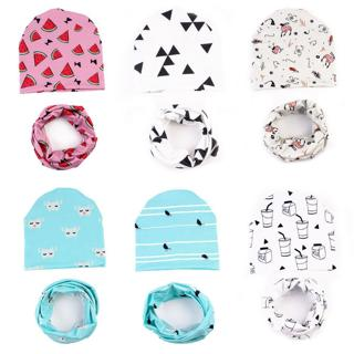 Baby hats  Baby Cute Winter Kids Baby Hats Keep Warm Set Cute Hat Scarf dropship ma30m30