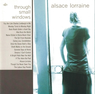 Alsace Lorraine ‎– Through Small Windows (CD, 2001) Electronic Synth Pop Rock with GIN!