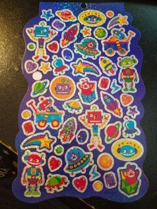 Shiney Robot Stickers # 1