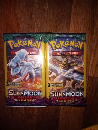 Pokemon cards two 3 pacs