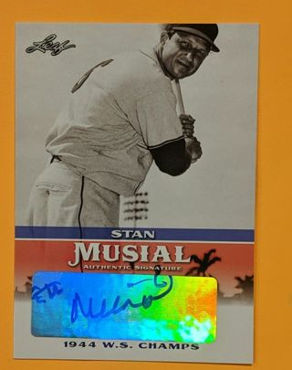 STAN MUSIAL GENUINE AUTOGRAPH