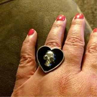 Fashion ring skull/heart