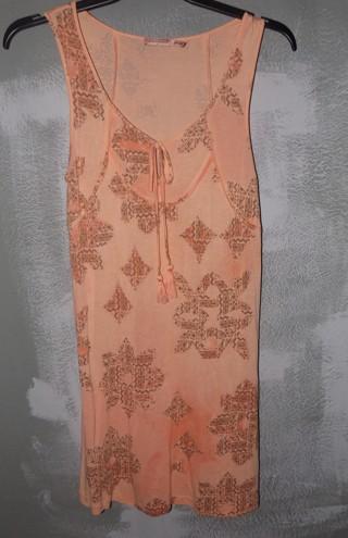 juicu couture sz. small, tunic dress,sleeveless,peach&pink