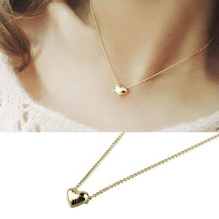 Fancinating Smooth Small Heart Necklaces Gold Pated Choker Pendant Necklace Jewelry Austrian Cryst