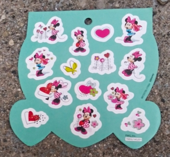 MINNIE MOUSE GLITTER STICKERS 3 SHEETS