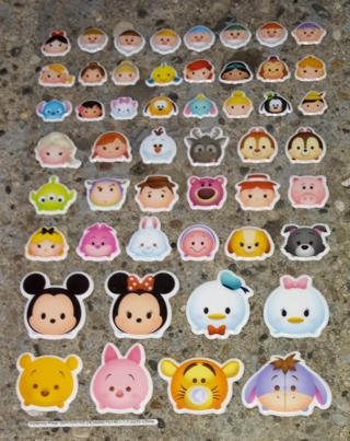 TSUM TSUM MICKEY MOUSE AND FRIENDS PUFFY VINYL STICKERS