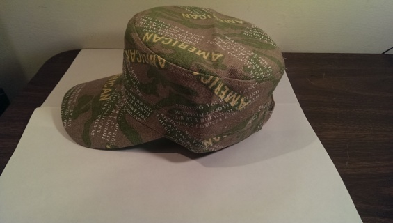 Flat Roof Military Style American Camouflage Hat Cap