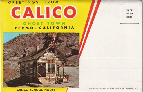 Old Vintage Travel Souvenir Multi Picture Book: Calico Ghost Town, CA