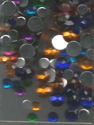 Random Mix of Foil Flatback Sizes - 15+