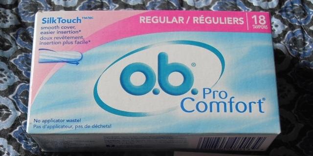 Box of O.B. Tampons