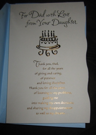 Free Birthday Card Daughter To Father Birthday Listia