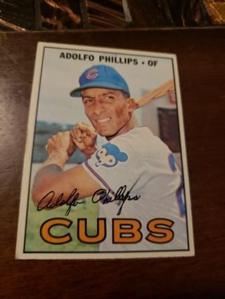 1967 Adolfo Phillips Chicago Cubs vintage baseball card