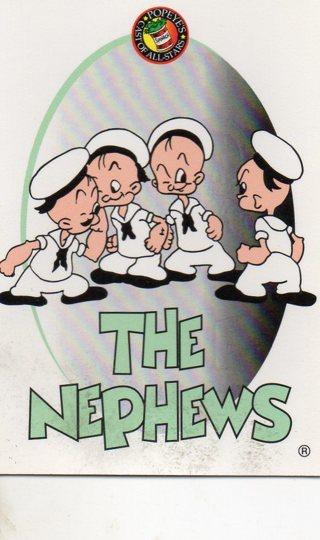 1994 Popeye Comics Collectible Trade card: The Nephews