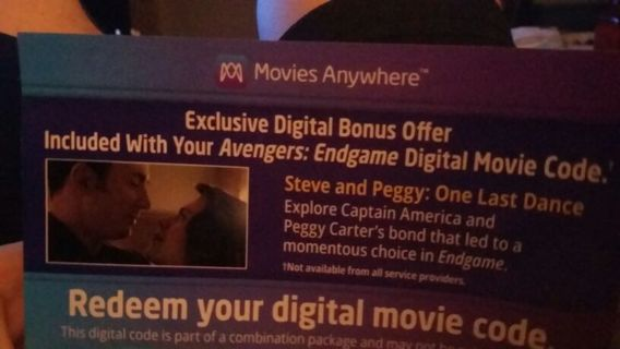 Avengers Endgame code movies anywhere and Disney code
