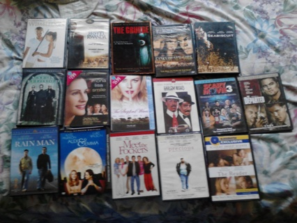Lot of 26 GREAT DVD Movies with cases FREE SHIPPING & LOW GIN WITH BONUS!