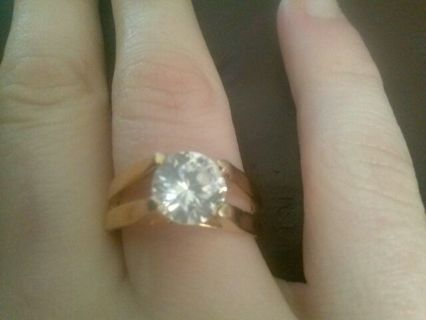 18K G.E ring