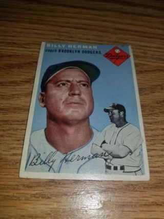 1954 Topps Baseball Billy Herman #86 Brooklyn Dodgers,VGEX condition,Free Shipping!