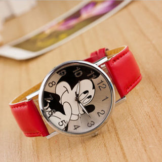 Mickey Mouse Leather Wrist Watch