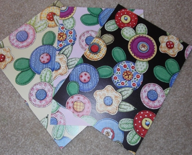 Free 3 Mary Engelbreit Scrapbook Papers Quilted Flower Theme