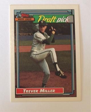 Trever Miller Draft Pick 1992 Topps