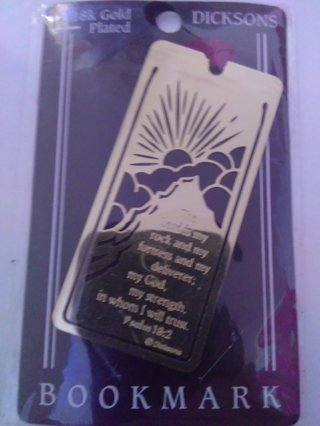 18k Gold Plated Bookmark Bible quote.