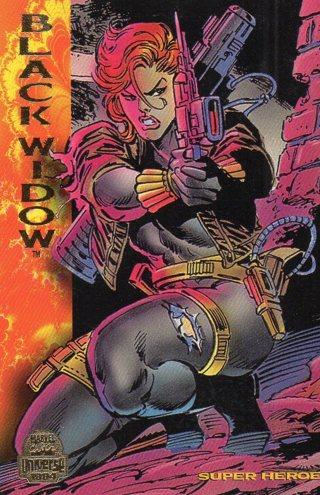 1994 Marvel Comic Trade Card: Black Widow