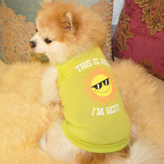Small Cartoon Printed Sleeveless Summer Puppy Dog Vest T-shirt Top Pet Clothes