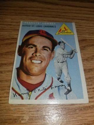 1954 Topps Baseball Peanuts Lowrey #158 St Louis Cardinals,EX condition,Free Shipping!