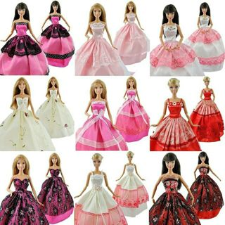 5 Pcs High Quality Fashion Handmade Clothes Dresses Grows Outfit for Barbie Doll dress
