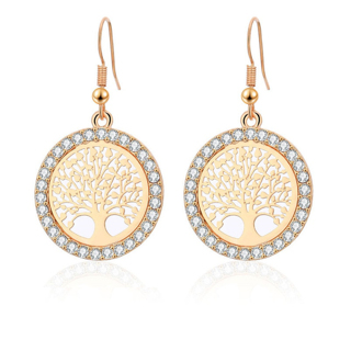 Crystal Drop Earrings For Women Pattern Round Earring mujer Jewelry Fashion Unique luxury