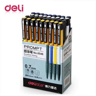 Deli 1pcs Ballpoint Pen Student Stationery 0.7mm Pressed Ballpoint Pen 4 Color Plastic Ball Pen Sc
