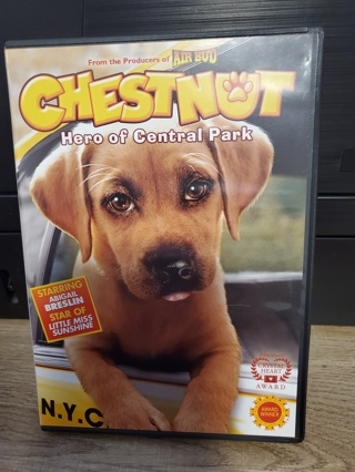 """DVD - """"Chestnut - Hero of Central Park"""" - rated G"""
