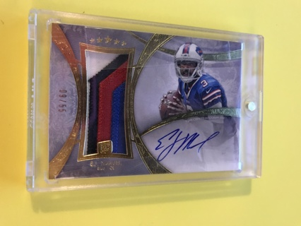 2013 Topps Five Star Jumbo Jersey E.J. Manuel 4 Color Patch Auto RC #/55 Bills
