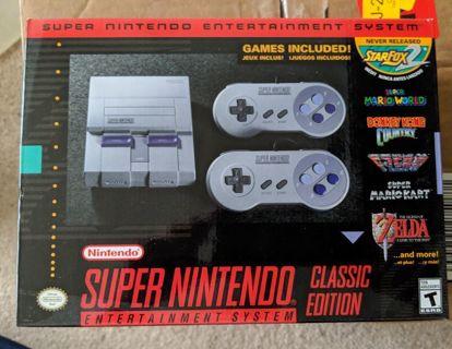SNES super Nintendo entertainment system classic