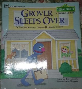 1984 A Golden Book Sesame Street Glover Sleep Over
