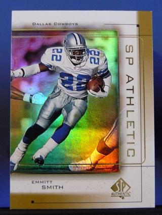 "1999 SP Authentic ""SP Athletic"" Emmitt Smith (Insert) Dallas Cowboys"