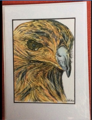 "FALCON - 5 x 7"" Art Card by artist Nina Struthers - GIN ONLY"