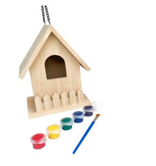 Backyard Paradise | Premium Paint Your Own Birdhouse Kit | Wooden