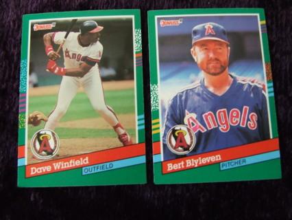 1991 HOFer California Angels Team Donruss Card Lot of 2