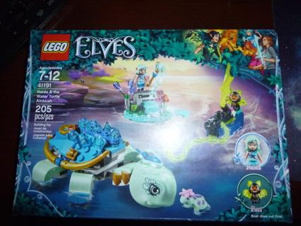 New LEGO Elves Naida & The Water Turtle Ambush 41191 Building Kit (205 Pieces)