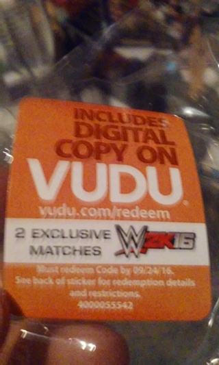 Free: vudu digital download of wwe 2k16 2 match exclusive other.