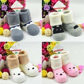 1 Pair New Kids Autumn Winter Warm Cartoon Thick Cotton Soft Terry Baby Socks