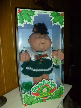 Free: new in box cabbage patch kids special edition holiday baby.