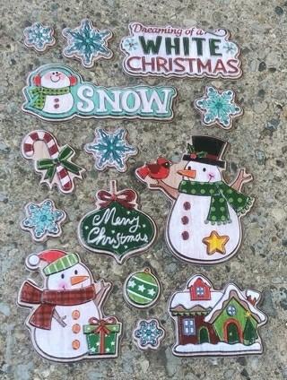 CHRISTMAS POP UP PLASTIC STICKERS LOT 2