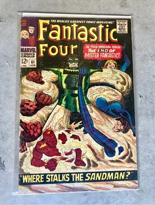 Fantastic Four #61 12 cent Cover Silver Age