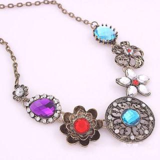 Lady Flower Pendant Chain Necklace