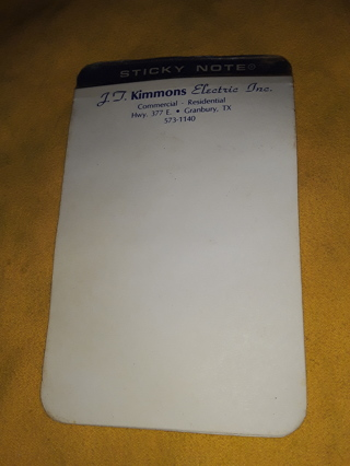 "Vintage advertising pad of ""Sticky Notes"""