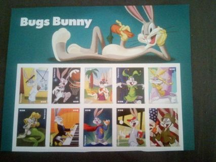 DON'S DAILY DEAL. 10 BUGGS BUNNY FOREVER STAMPS.5.50 DOLLAR VALUE..GOOD LUCK..