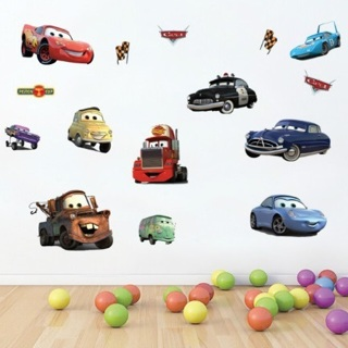 Hot DIY Removable Wall Stickers Parlor Kids Bedroom Home Decor House Decorative Cars Sticker